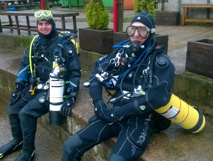 First divers of 2016 - Glyn Swift & Andrew Dixon