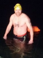 Nick Balsdon - first swimmer at Dosthill Quarry in 2016